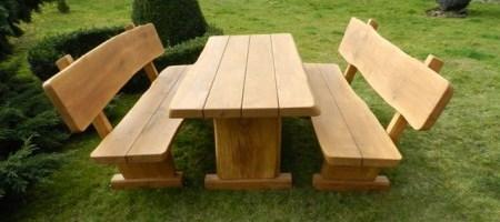 Gartenmöbel aus lärchenholz  Rustikale Gartenmöbel aus Massivholz | Garnituren & mehr