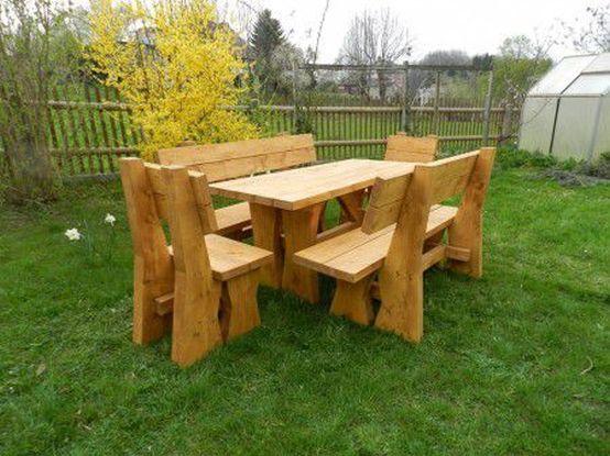 Gartenmöbel Massivholz | Gartenbänke & Blumenkästen