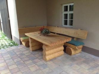 rustikale gartenm bel aus massivholz. Black Bedroom Furniture Sets. Home Design Ideas